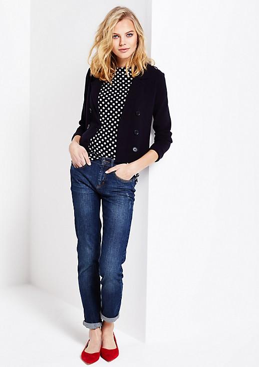Kurzarm-Jerseyshirt mit dekorativem Muster
