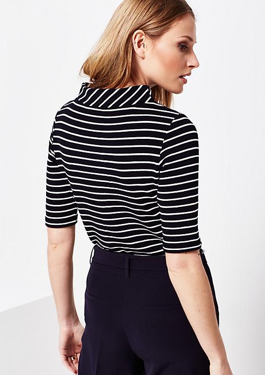 Weiches 1/2-Arm Shirt mit Streifenmuster