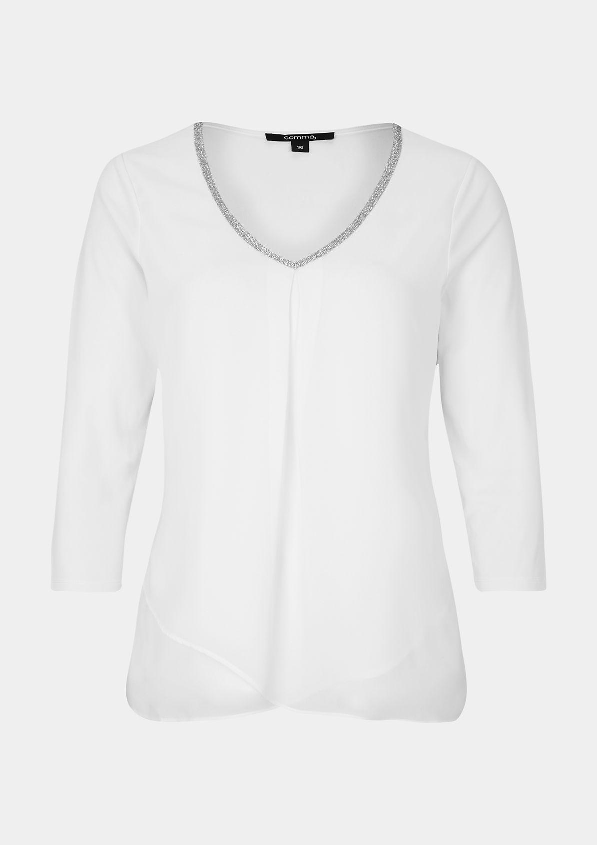 Leichtes 3/4-Arm Shirt mit Glitzerverzierungen
