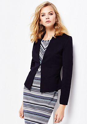 Soft blazer with a beautiful honeycomb pattern from s.Oliver