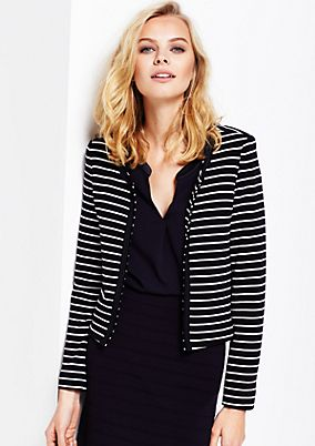 Lightweight short blazer with stripes from s.Oliver