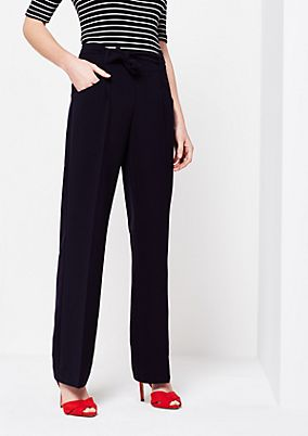Elegant business trousers with a wide fabric belt from comma