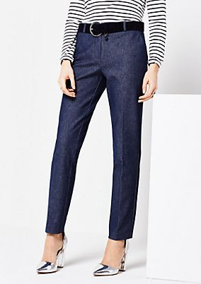 Elegant business trousers in a denim look from s.Oliver