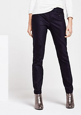 Extravagant business trousers with zip details from s.Oliver