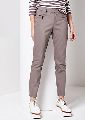 Extravagant business trousers with zip details from comma