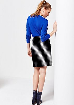 Casual short skirt with stripes from s.Oliver