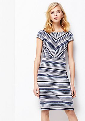 Elegant sheath dress with a sophisticated all-over pattern from s.Oliver