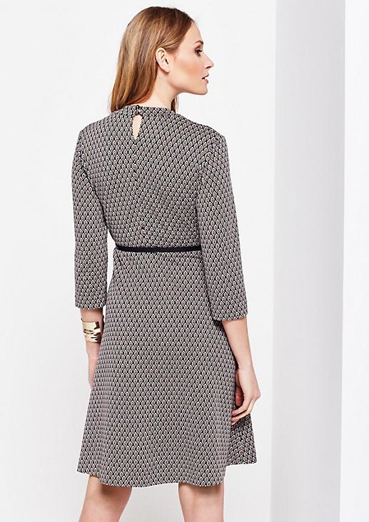 3/4-Arm Kleid mit liebevoll gestaltetem Allovermuster