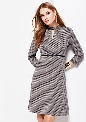 3/4-sleeve dress with a beautiful all-over pattern from comma