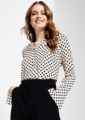Smart crêpe blouse with a beautiful all-over pattern from s.Oliver