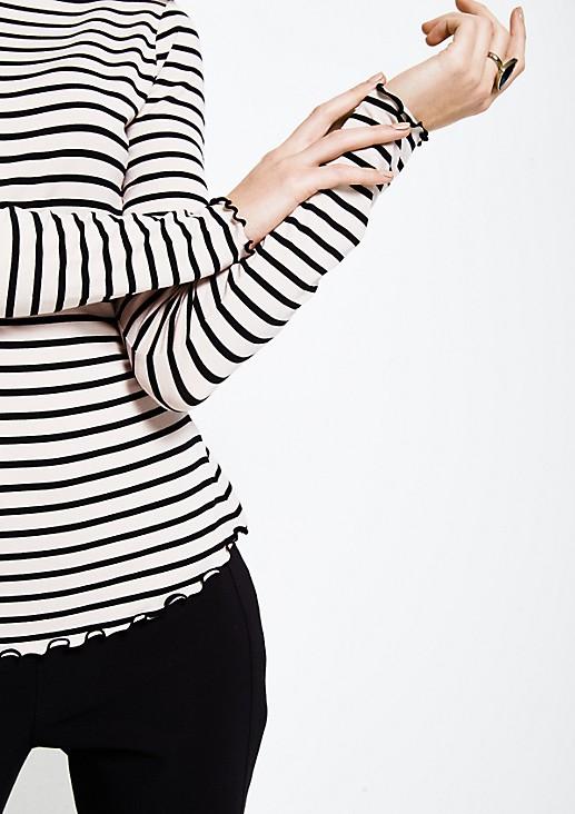 Weiches Jersey-Longsleeve mit schönem Allovermuster