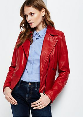 Rocker leather jacket in a trendy biker look from s.Oliver