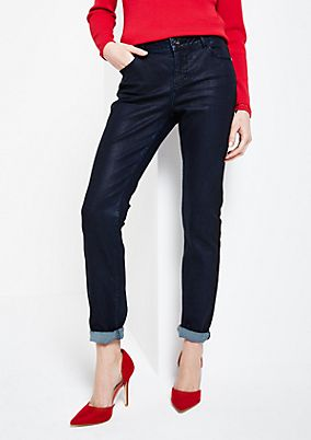 Classic coated jeans with a matte sheen from s.Oliver