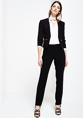 Classic business trousers with pressed pleats from s.Oliver