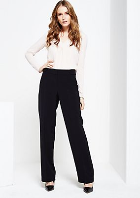 Extravagant business trousers with a straight leg from s.Oliver