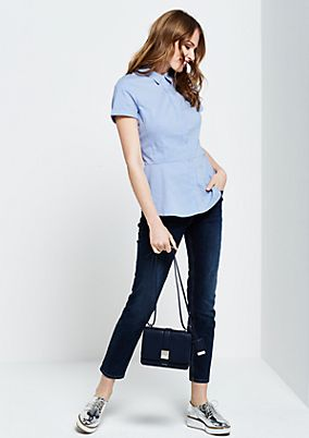 Fine short sleeve blouse with striped pattern from s.Oliver