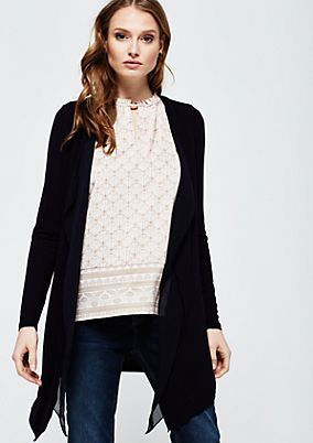 Casual long cardigan with beautiful details from comma