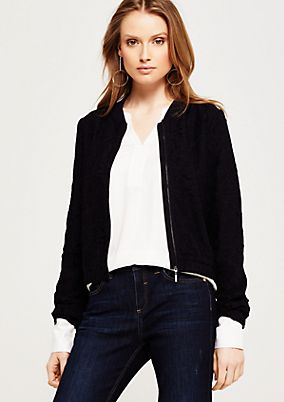 Lightweight bomber jacket in fine lace from comma