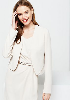 Elegant short blazer with beautiful textured pattern from s.Oliver