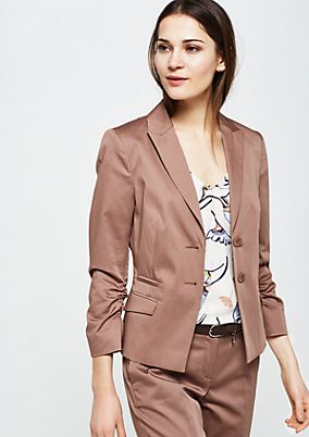 Elegant satin blazer with sophisticated details from s.Oliver