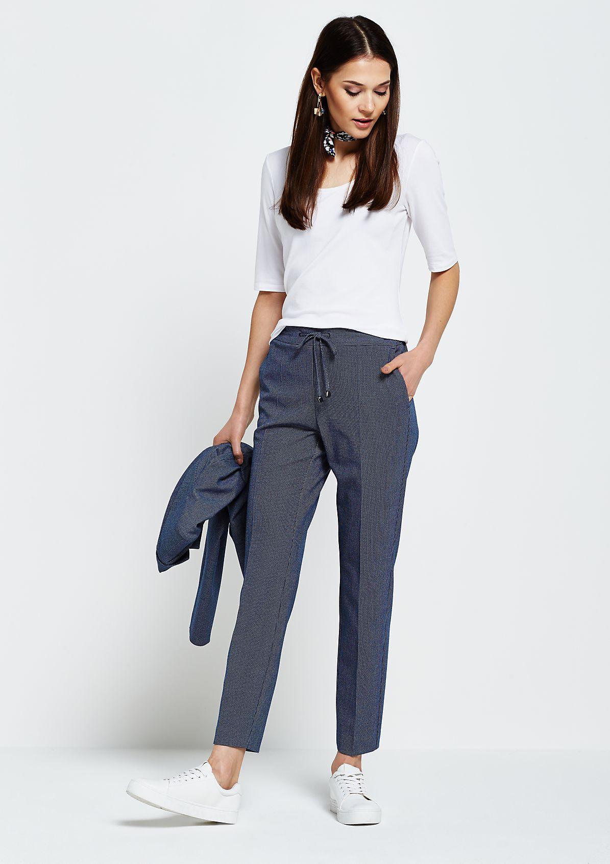 Feine Loungepants mit dekorativem Muster