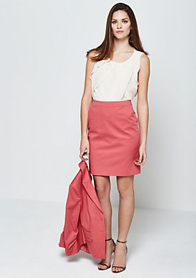 Classic business skirt in fine satin from s.Oliver