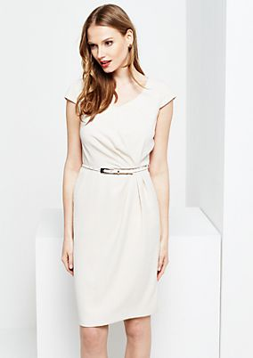 Elegant business dress with a sophisticated textured pattern from s.Oliver