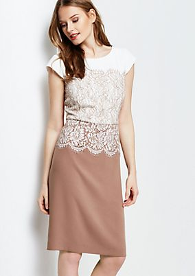 Luxurious evening dress with a fine lace trim from comma