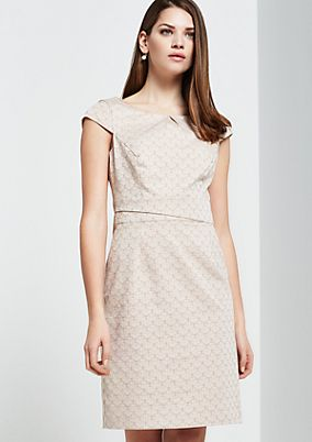 Elegant business dress with decorative pattern from s.Oliver