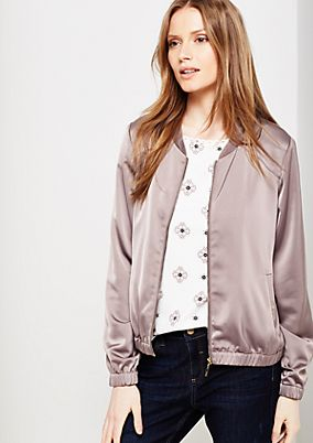 Shiny bomber jacket with smart details from s.Oliver