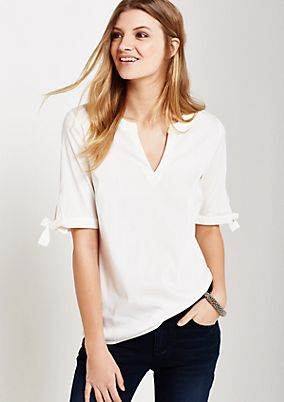 Lovely short sleeve blouse with decorative details from s.Oliver