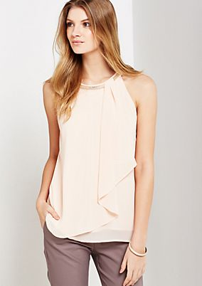 Extravagant crêpe top with chain embellishment from s.Oliver