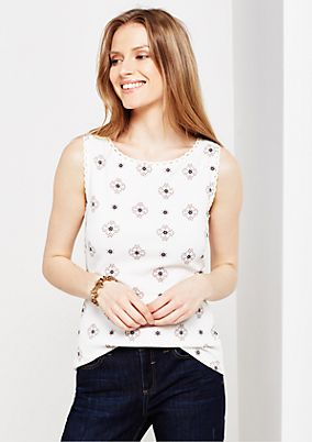 Summery top with a beautiful all-over print from s.Oliver