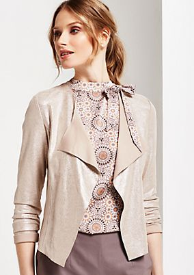Extravagant velour bolero with glitter finish from s.Oliver