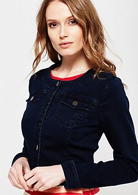 Cropped denim jacket with a vintage finish from s.Oliver