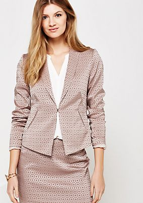 Elegant business blazer with an elegant jacquard pattern from comma