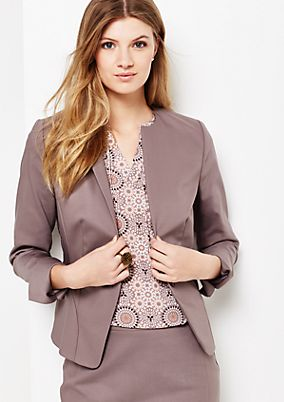 Extravagant business blazer with smart details from s.Oliver