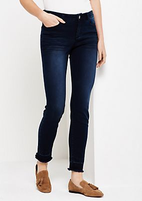 Schöne Skinny Jeans im Used-Look