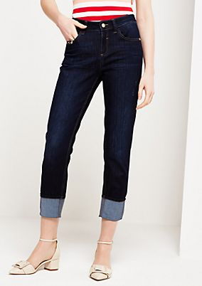 Lightweight 7/8-length jeans with sophisticated details from s.Oliver