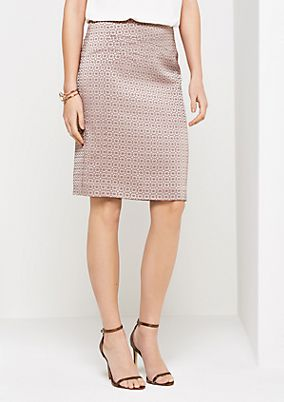 Elegant business skirt with tonal minimal pattern from comma