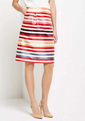 Matte-shiny business skirt with classic stripes from s.Oliver