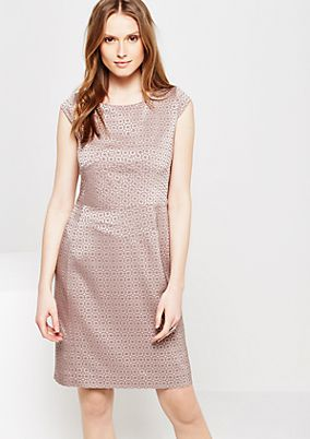 Elegant sheath dress with fine jacquard pattern from s.Oliver