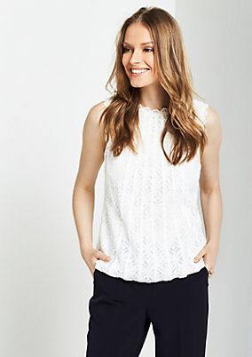 Elegant top in delicate lace from s.Oliver