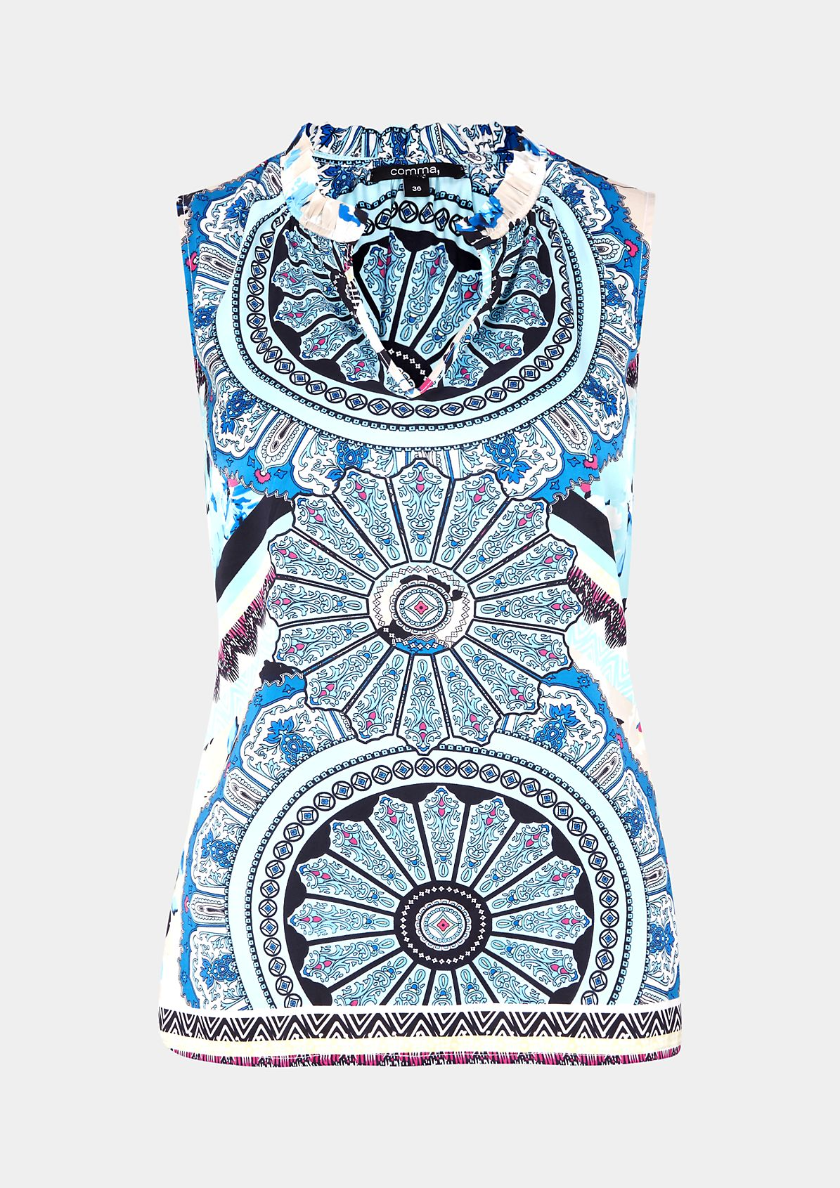 Elegantes Satintop mit dekorativem Muster