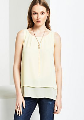Lightweight crêpe top in a tiered look from s.Oliver
