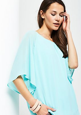 Extravagant crêpe blouse with short sleeves from s.Oliver