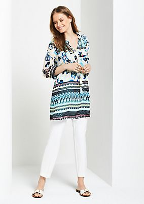 Long crêpe blouse with 3/4-length sleeves from s.Oliver