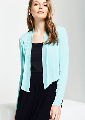 Fine bolero cardigan with long sleeves from s.Oliver
