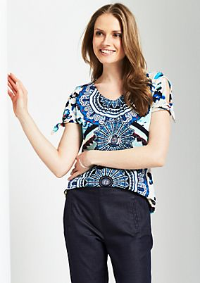 Summery short sleeve top with an all-over print from s.Oliver