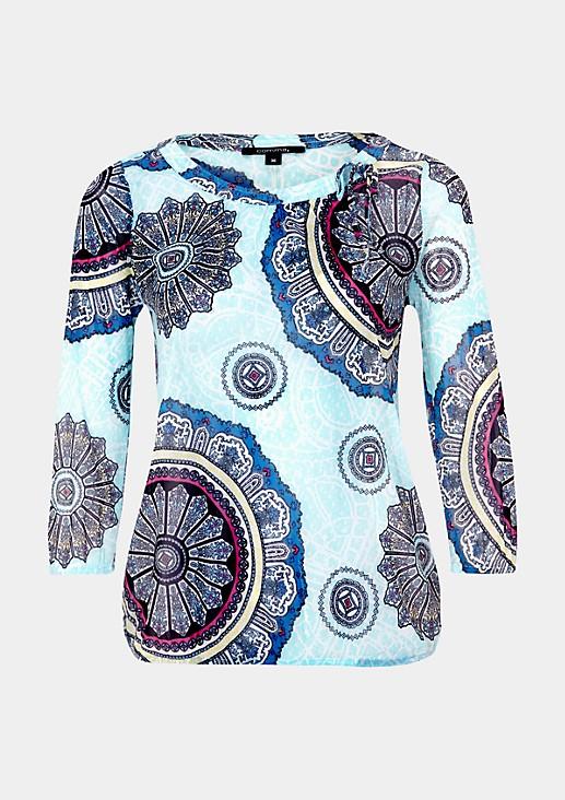 3/4-Arm Shirt aus hauchzartem Mesh